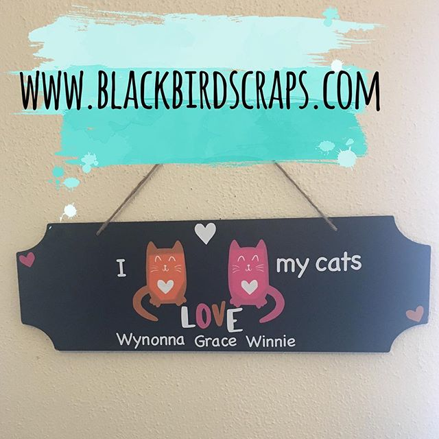 Now that it's nearly New Years I can share some gifts I made for Christmas- this is something I could personalize for you too with any pet, names, colors, etc  #blackbirdscraps #custom #etsy #etsyseller #cricut #vinyl #cat #cats #catmom #catgift #catlover #homedecor #uniquegift #notwothesame