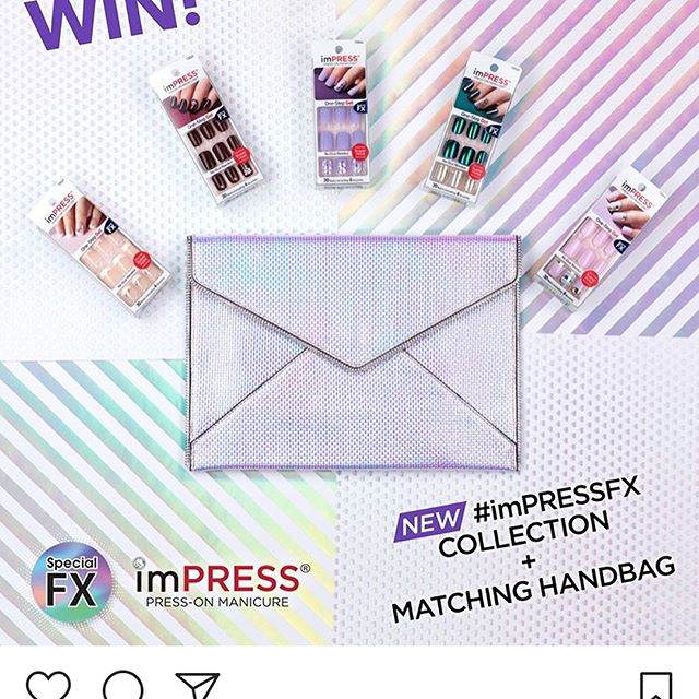 I loooooove imPRESS nails and would be so happy to win this. @impressmanicure #imPRESSFX @benbidder @pjdehnert I get so many compliments on them, many people think they were done in the salon and at $3-$4 per full manicure in the privacy of your home & at your connivence you can't go wrong. I already have a couple of the new FX ones and they are awesome. These last 2+ weeks on me, follow me on @snupps to see more #impreessnails #pressonnails #impressmoments