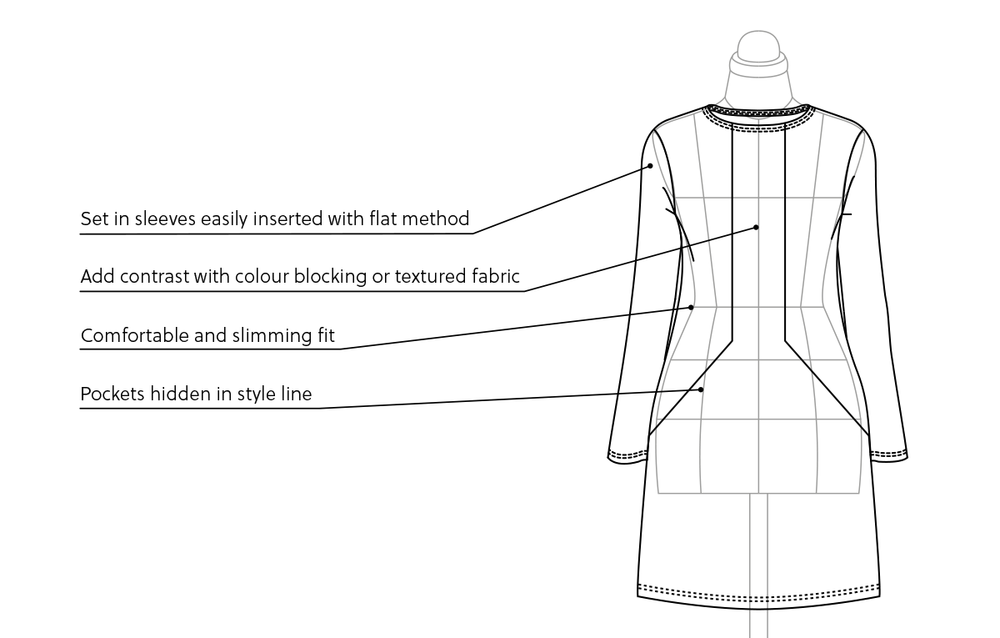 Features for the Prism dress