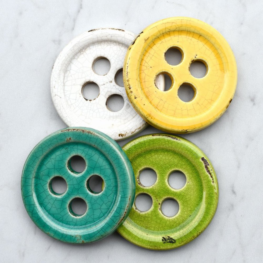 Ceramic Button Pattern Weight Set
