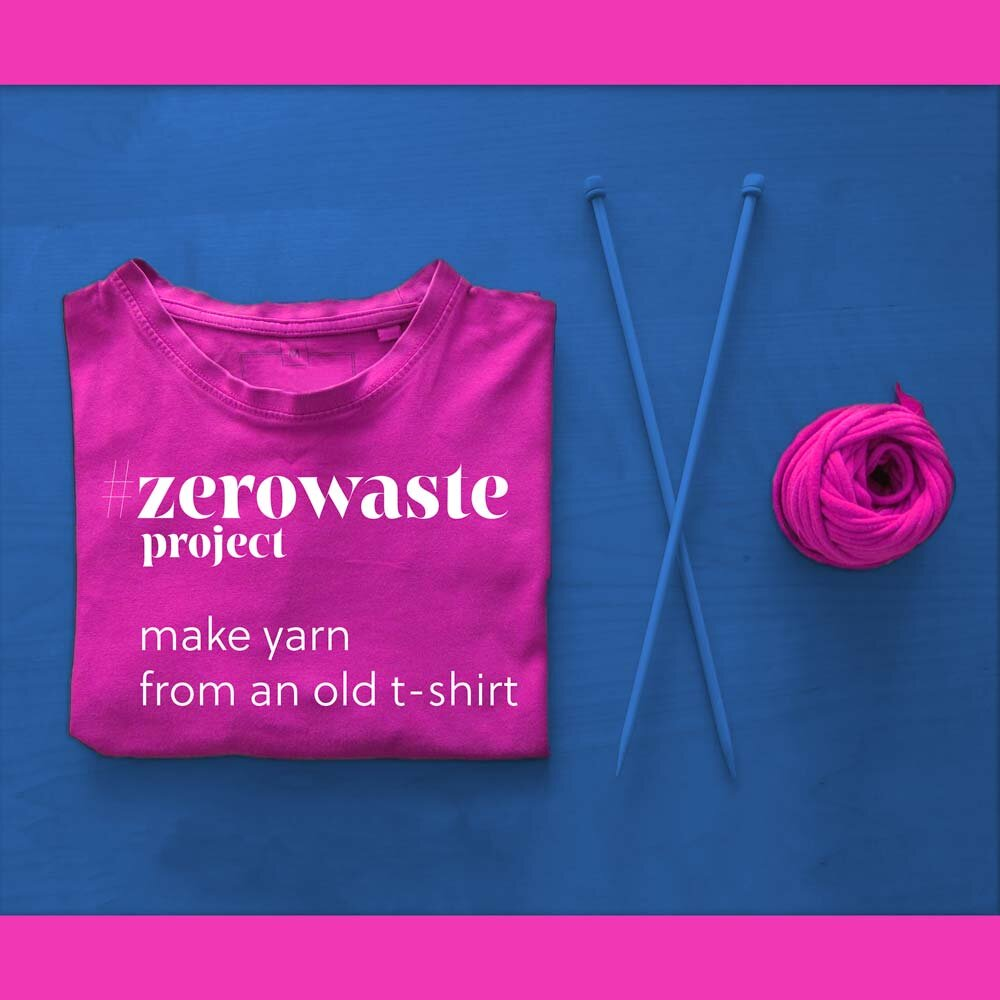 Pink and Purple Reclaimed and Recycled T Shirt Yarn Upcycled clothing