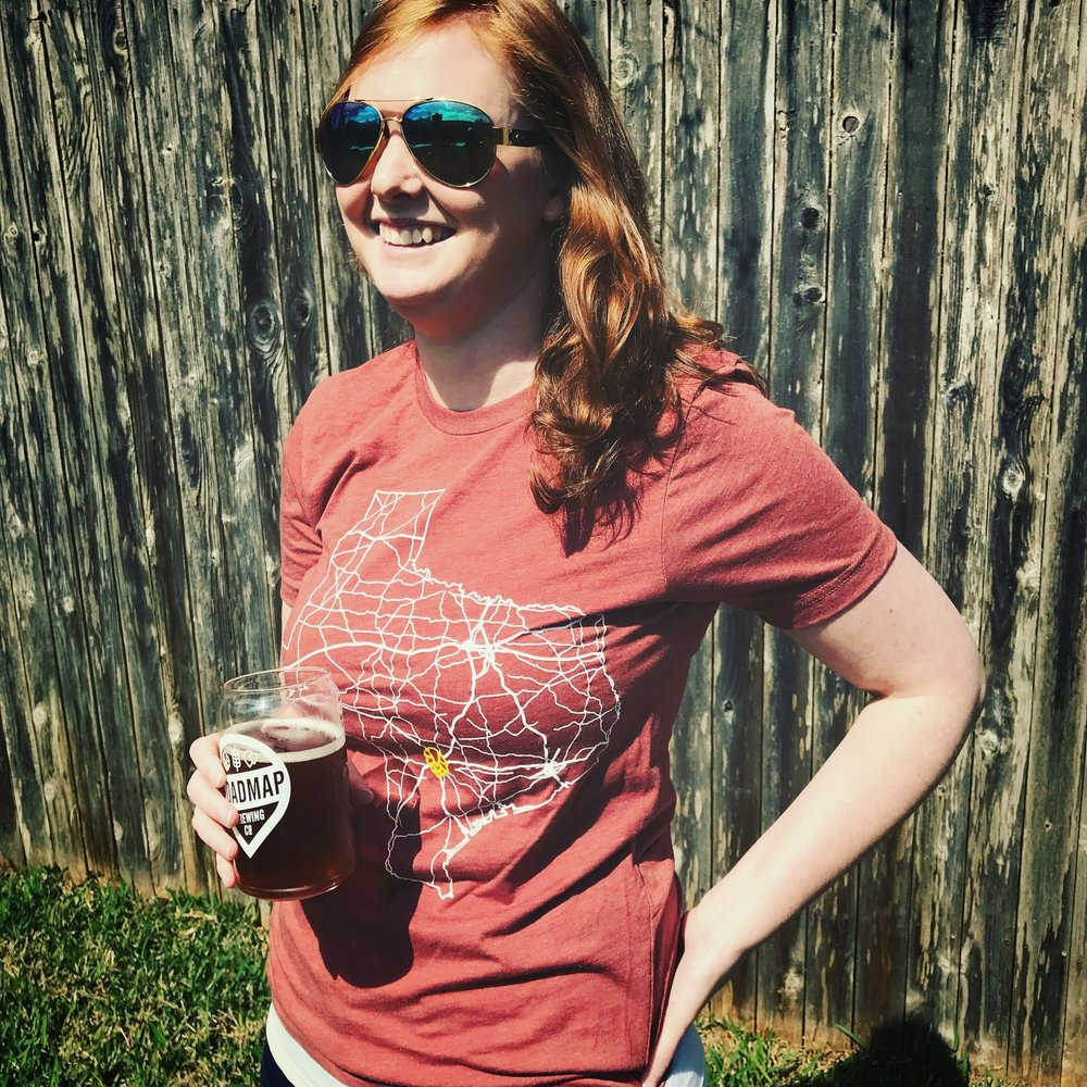 Hannah   The better half of the husband/wife duo behind  Roadmap Brewing , Hannah happily jumped head first into the adventurous world of craft beer. Using her marketing background and business knowledge, she is the spreadsheet wizard behind the branding and business. She's always open to talking about this crazy adventure and when she is not in the office, you'll find her serving beers behind the bar.   (P.S. Dustin and Hannah love beer so much that their cat is named after one) Seen below in pictures.