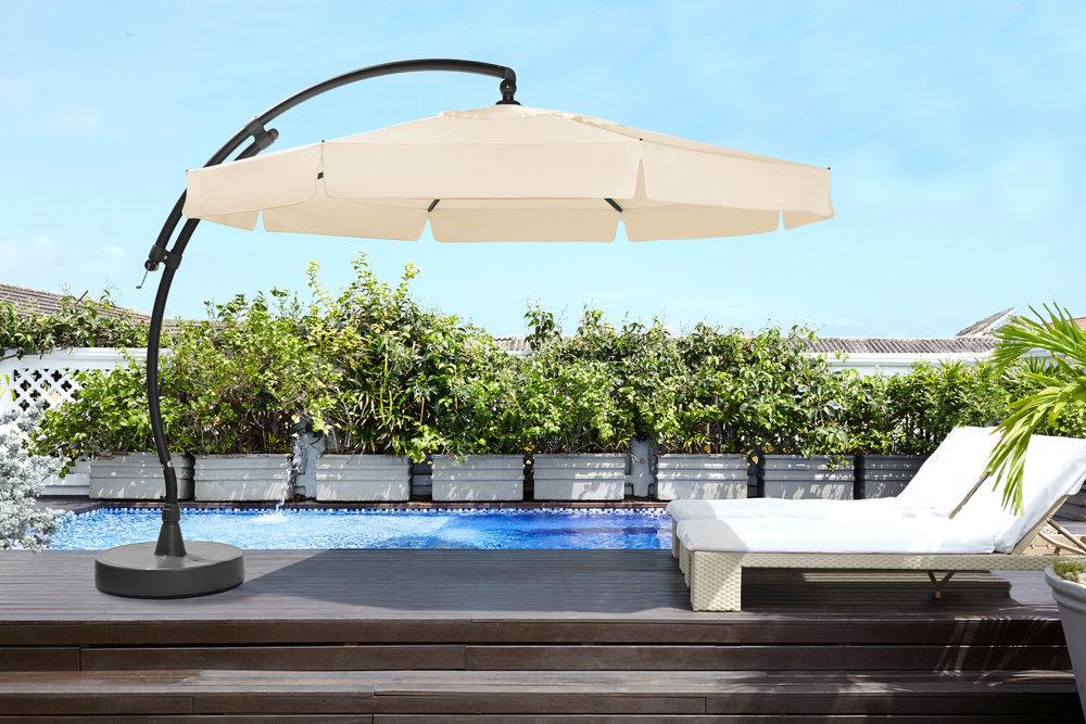 sun garden usa cantilever umbrella sun garden umbrella patio parasol umbrella. Black Bedroom Furniture Sets. Home Design Ideas