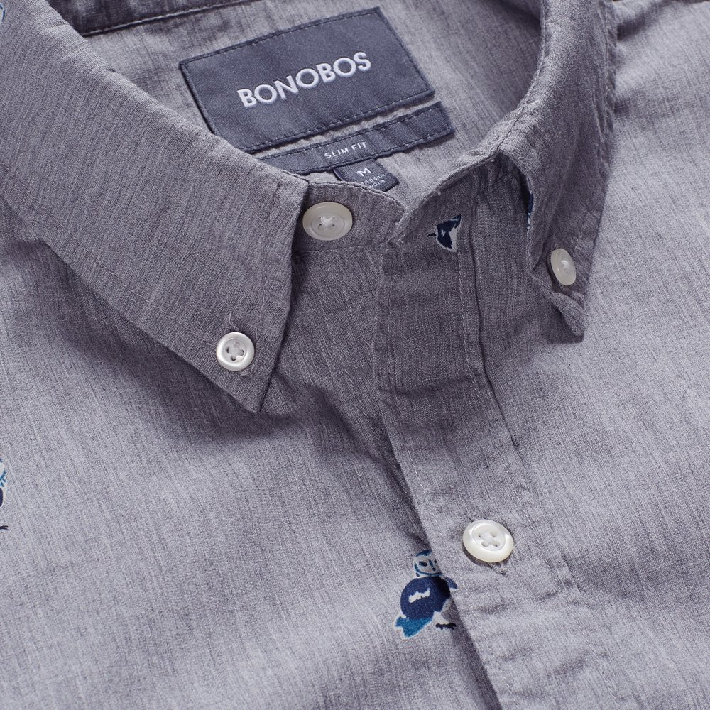 Washed Button-Down - Grey Owl Parliament - $88