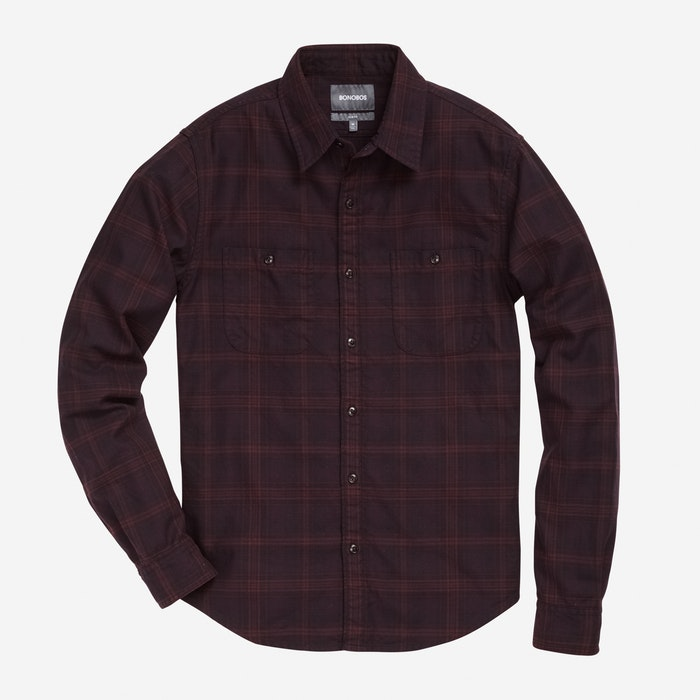 Burgundy Plaid  - $98