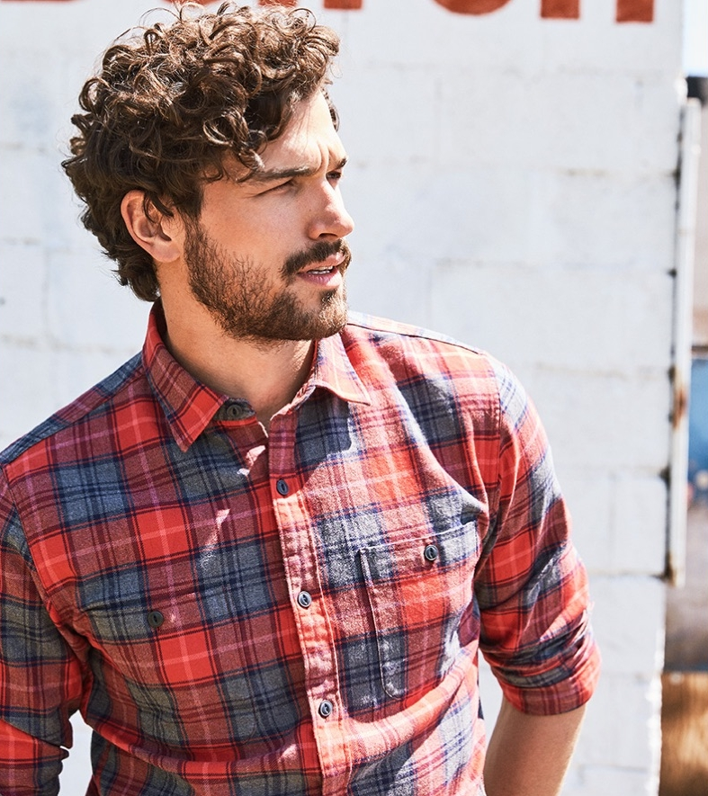 Casual BUTTON-DOWNs - Brushed and washed cotton give these button-downs a soft hand, worn-in feel and timeless look.