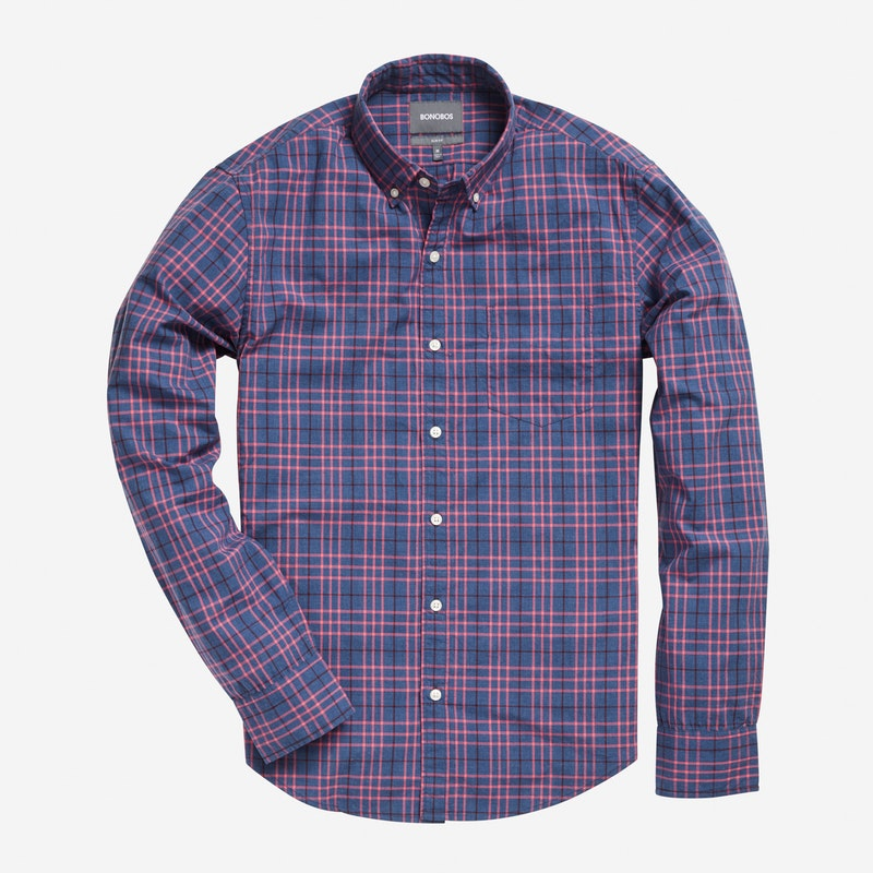 Chambray Red Check - $88