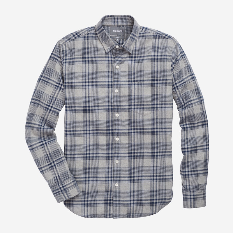 Navy Elk Plaid - $98