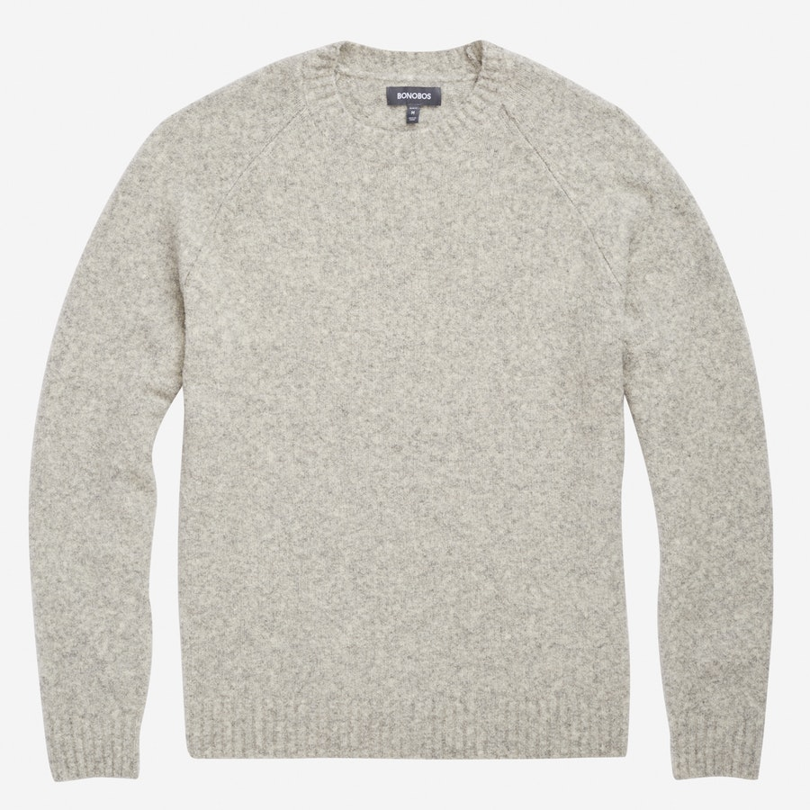 Boucle Crew Neck - Light Grey - $168