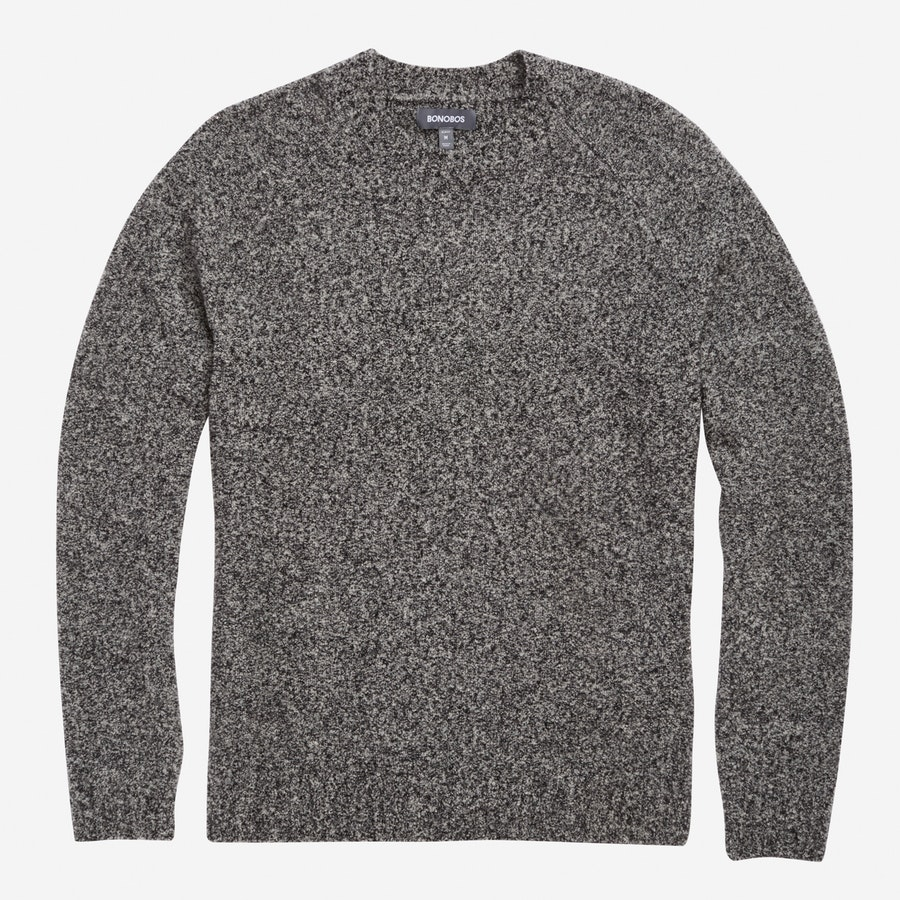 Boucle Crew Neck - Salt & Pepper - $168