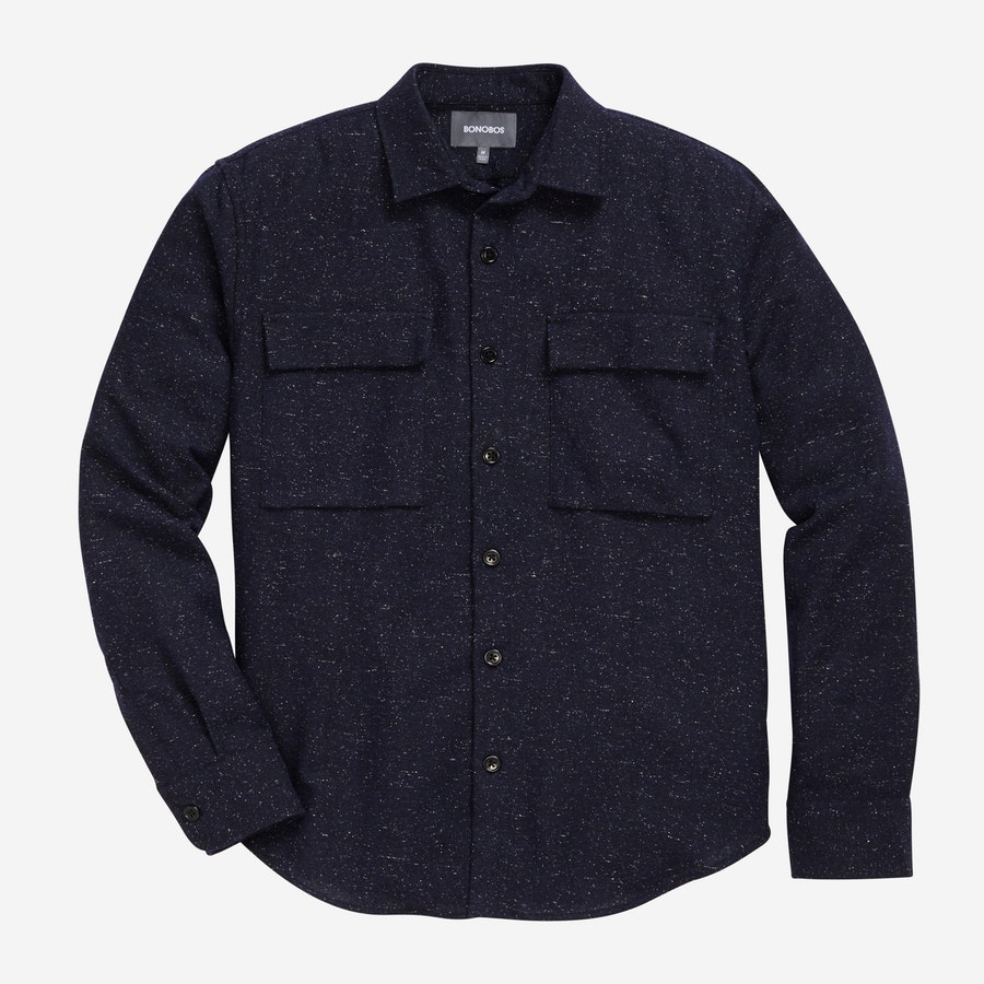 Overshirt - Speckled Navy - $148