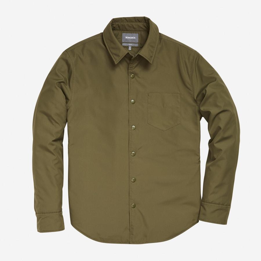 Shirt Jacket - Olive - $198
