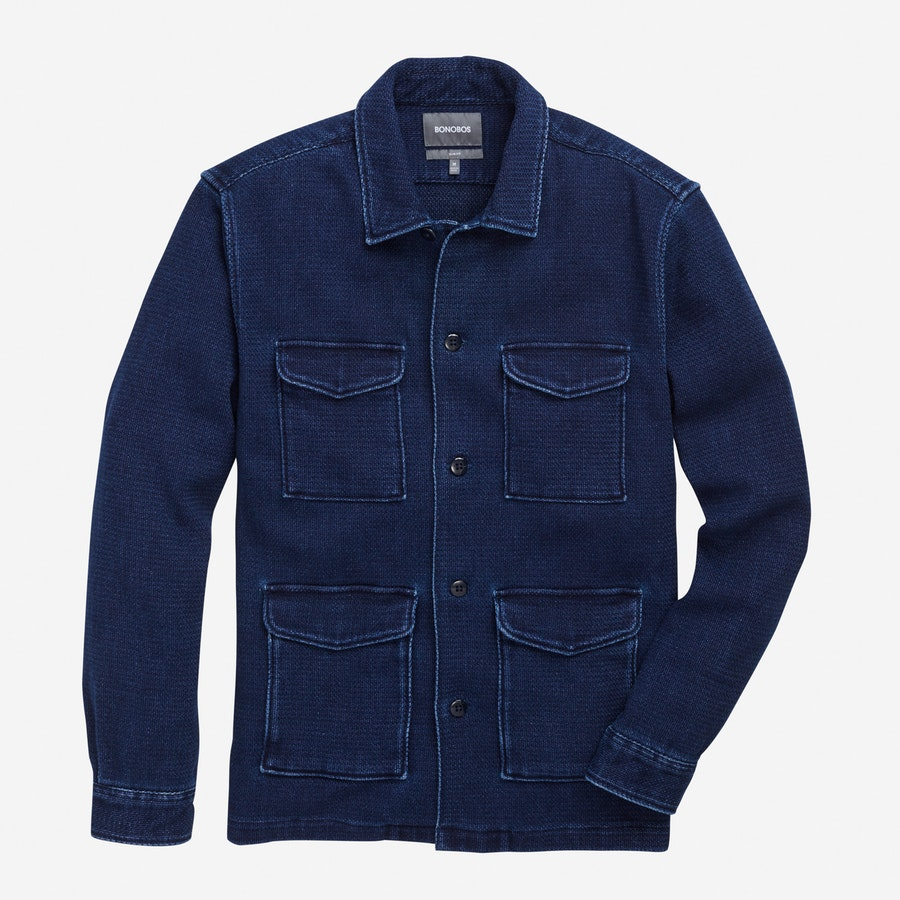 Shirt Jacket - Navy Safari - $198