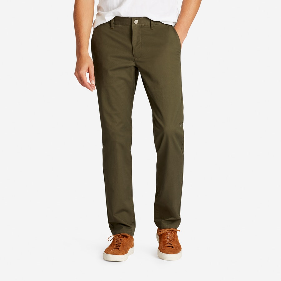 Stretch Washed Chinos - Olive - $98