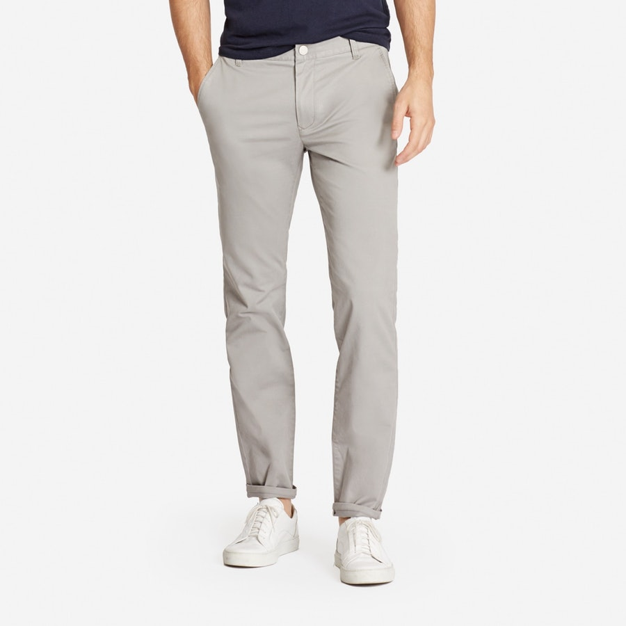Stretch Washed Chinos - Light Grey - $98