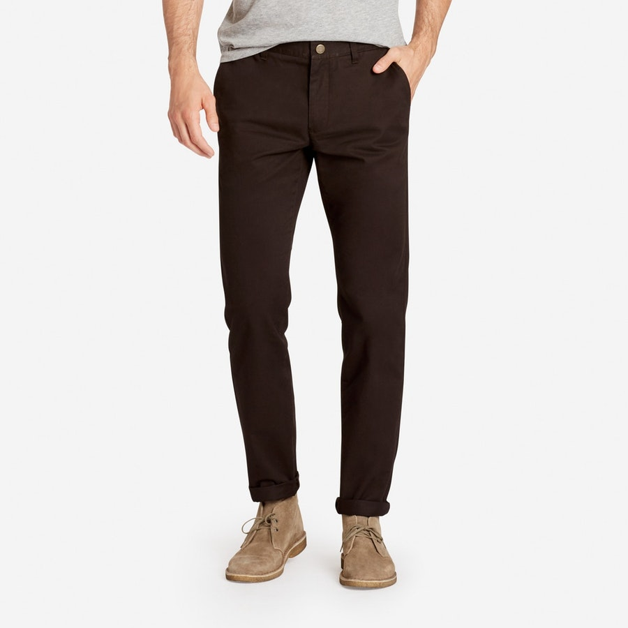 Stretch Washed Chinos - Stout Brown - $98