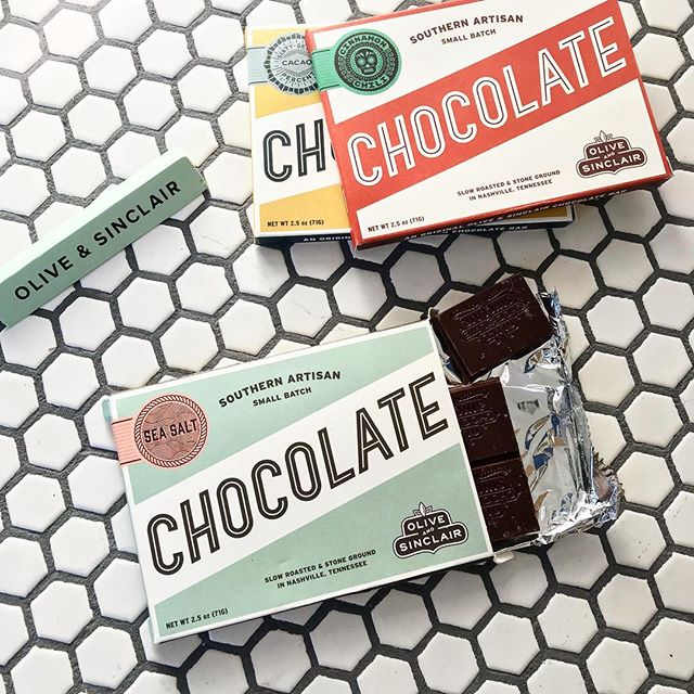 Sunday snacking done right. @oliveandsinclair is one of our favorite local Nashville Makers we have in the shop - stop by and grab a bar (or two).