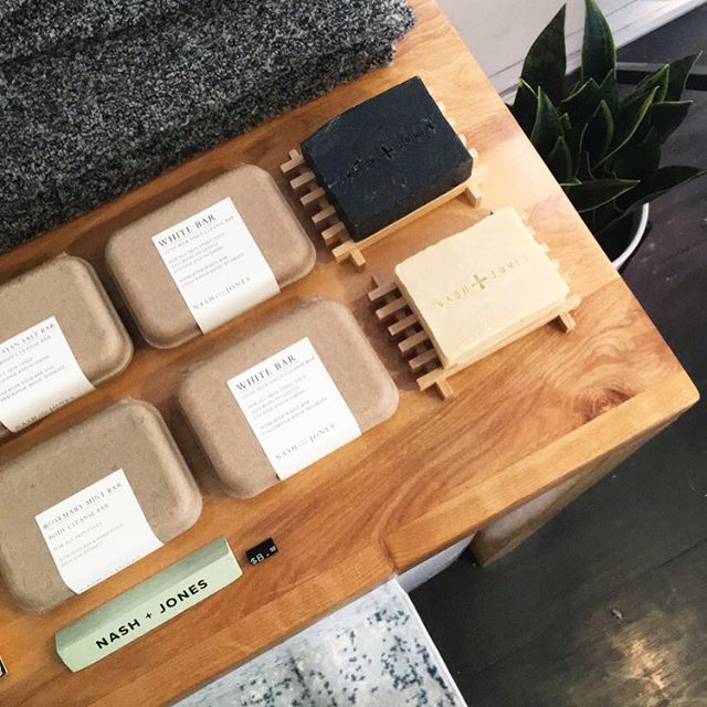Today is the last day to shop the Bonobos Takeover and all of our Local Nashville makers. (These Black Charcoal Bars by @nashandjones are so good we may have to just bring a few home with us) • Find the shop at The Porter East Holiday Market from 12-4 #findyourfit #bonobostakeover