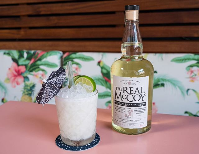 """It's our day, RUM day. And we are  celebrating with the @therealmccoyrum  It's called """"the coconut cosimo""""  Real McCoy 3yr, fresh lime juice, Thai coconut cream, and cardamom bitters. Oh yea and it's only $10.  #bushwick #nationalrumday #therealmccoyrum #therealmccoy #chichanyc"""