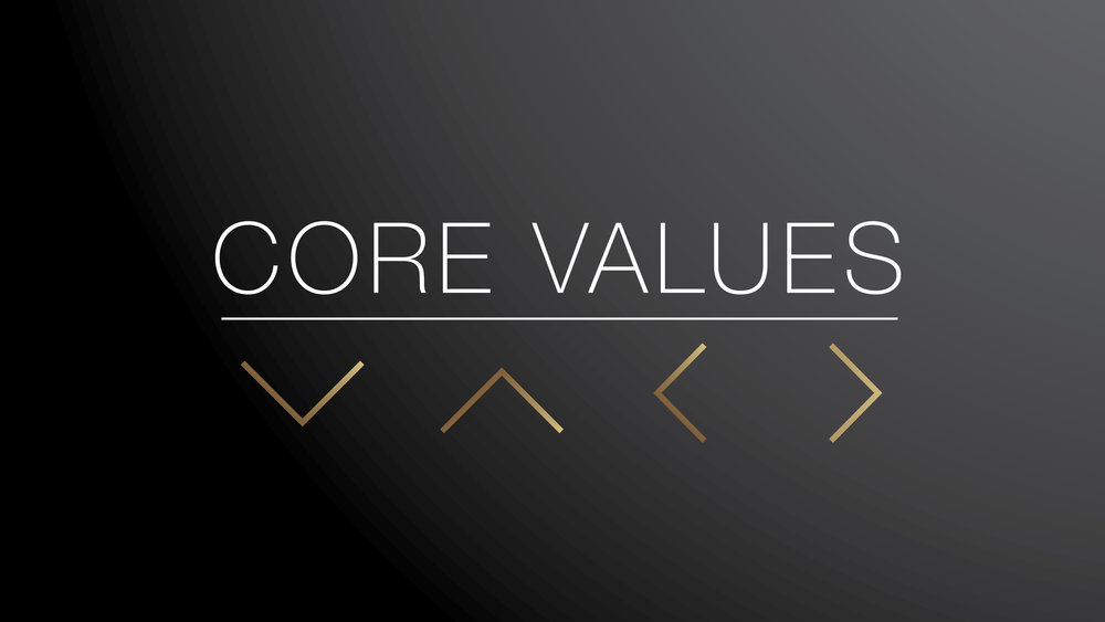 Core Values 2018 - Gospel, Worship, Community, Mission
