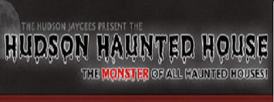 45th Annual Haunted House - Opens Sunday, Sept. 22nd, 2017The Hudson Jaycees are proud to present the 45th annual Hudson Haunted House. Room after room of monsters and horrors that will shock and surprise. Winding corridors lead you down a maze of uncertainty and doom! Opens Sept. 22nd & every weekend in Oct. plus Halloween.More info →