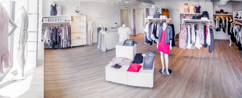 a contemporary local women's boutique