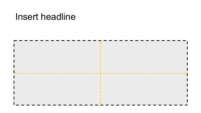 An example of a grid with a headline