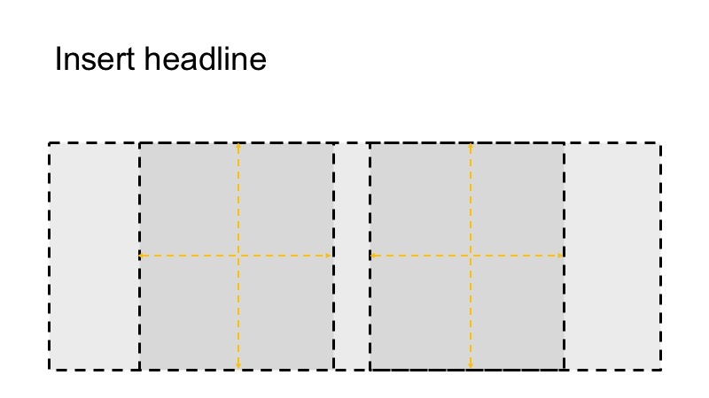Our grid divided in 2 boxes