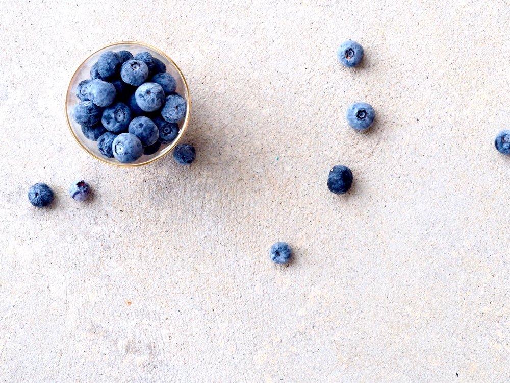 My blueberry fuelled breakfast.