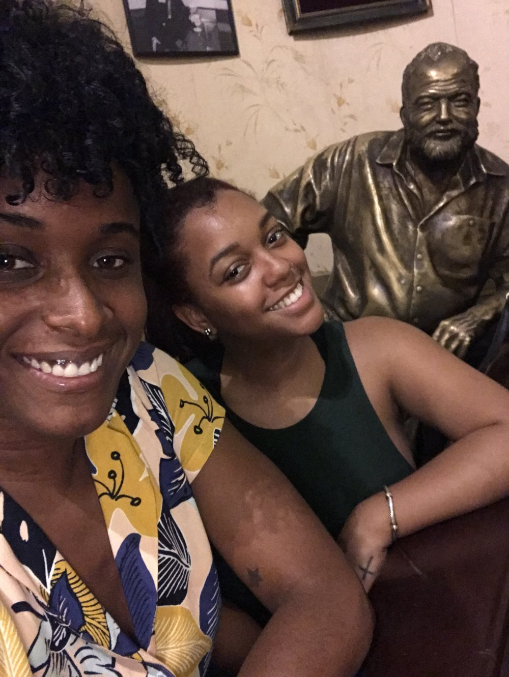 Got to kick it with Earnest Hemingway at his favorite bar, Floridita. Oh, and that spicy mamacita is my dear friend Cornielia.