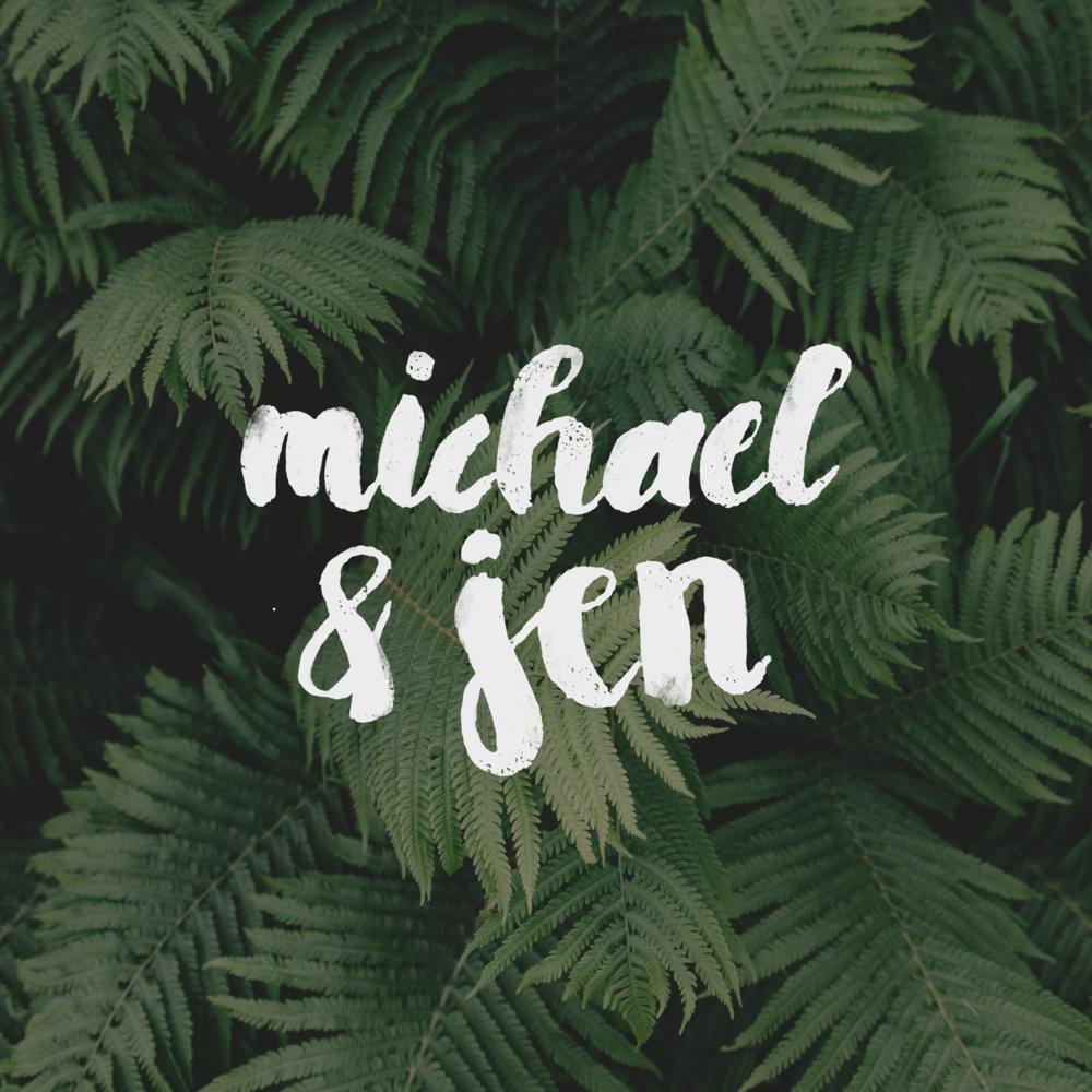 Michael + Jen Wedding Website Lettering