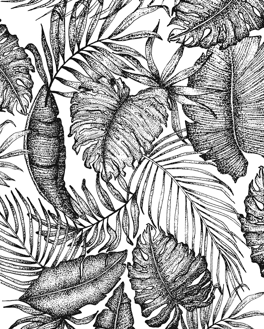 Tropical Floral Pattern-Personal Project