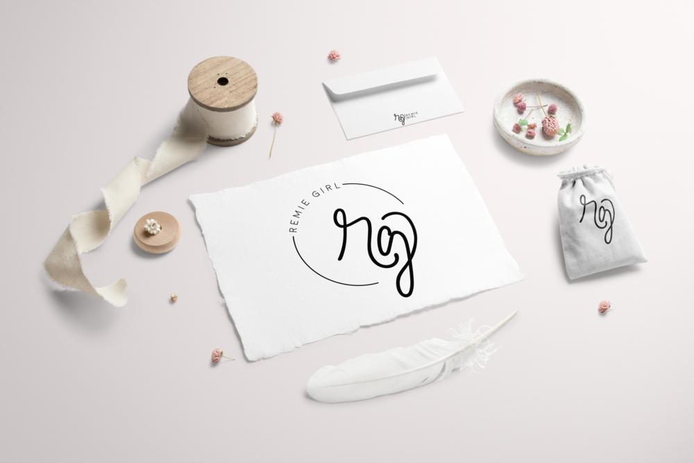 Remie Girl Logo Design