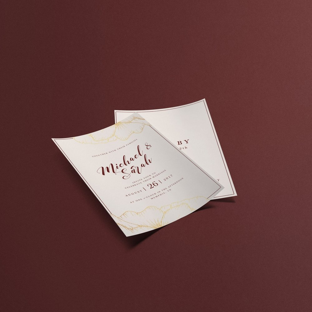 Michael + Sarah Wedding Invitation