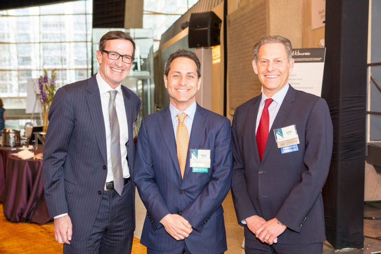 Pictured, left to right: Bruce McNamer (President & CEO, CFNCR), Neal Simon (Chair, CFNCR Board of Trustees), and Gene Sachs (Managing Partner, Cresa Washington DC).