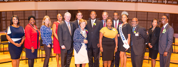 Pictured: Tracey Wilkins, Artis Hampshire Cowan, Lauren Peterson Fellows, Danielle White, The Honorable James (Jim) Estepp, Bruce McNamer, Betty Buck, The Honorable Derrick Leon Davis, Bill Shipp, Desiree Griffin-Moore, Gregory Wells, Terese Taylor, Howard Stone, Maria Tildon and James Coleman.