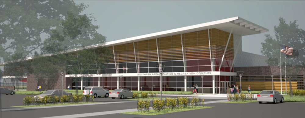 PSEG Keys Energy Center LLC rendering of the new Southern Area Aquatic and Recreation Complex (SAARC) in Brandywine, Maryland.