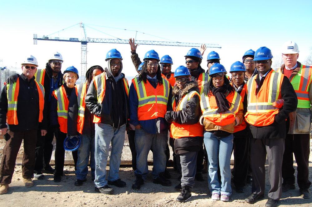 Class 8 visit to Clark Construction.JPG