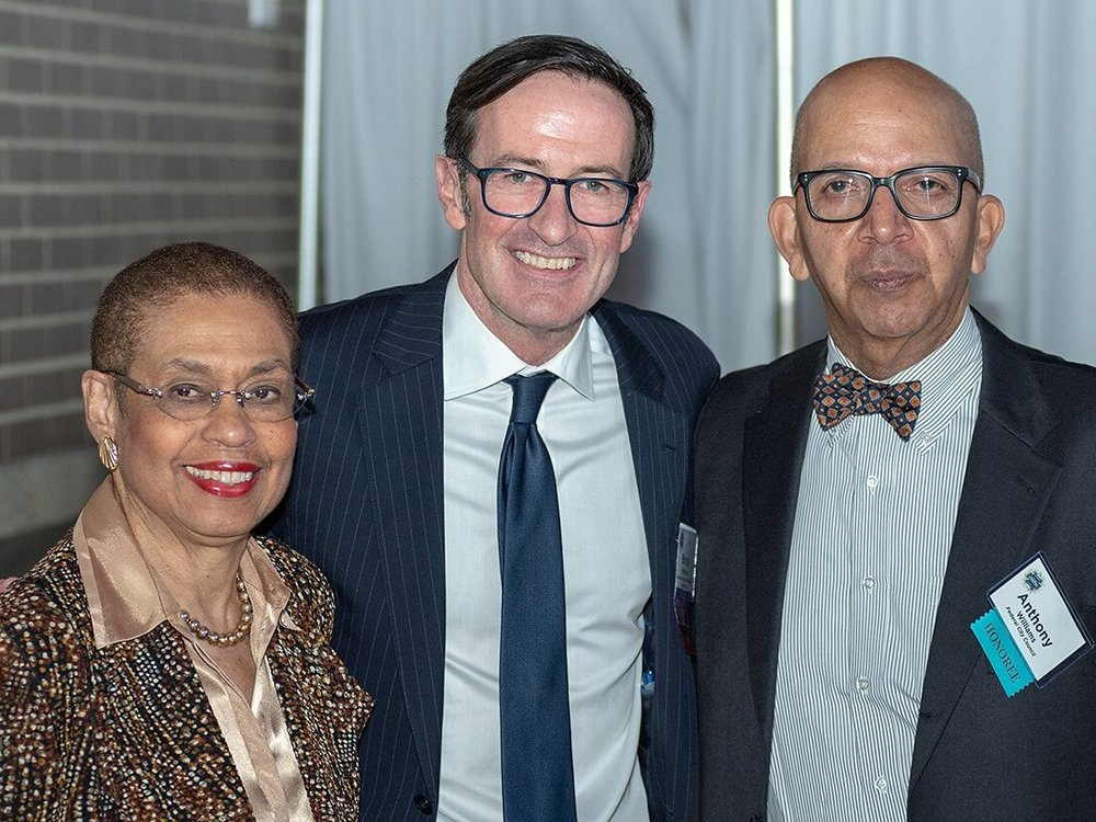 Congresswoman Eleanor Holmes Norton, our President and CEO Bruce McNamer, and former Mayor Anthony Williams.