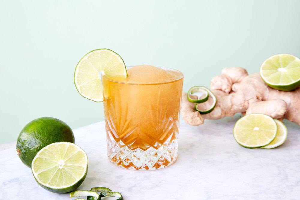 Rye & ginger - Kelvin Ginger Slush Mix,Rye Whiskey