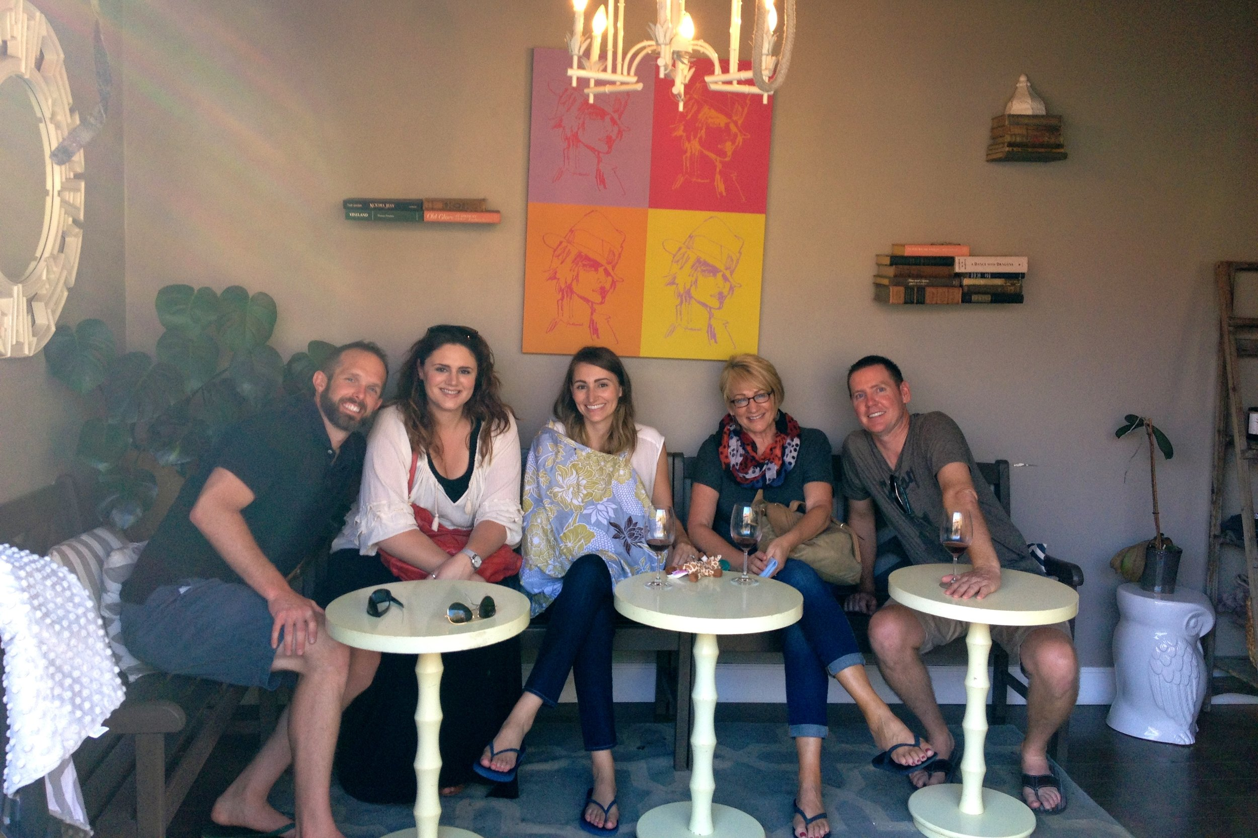 family at Drake Wine, The Funk Zone Santa Barbara