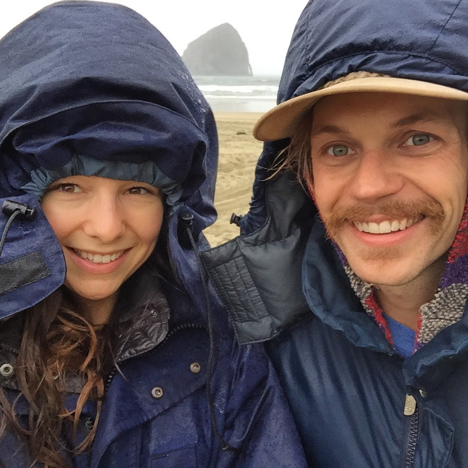 A rainy day in Pacific City, Oregon