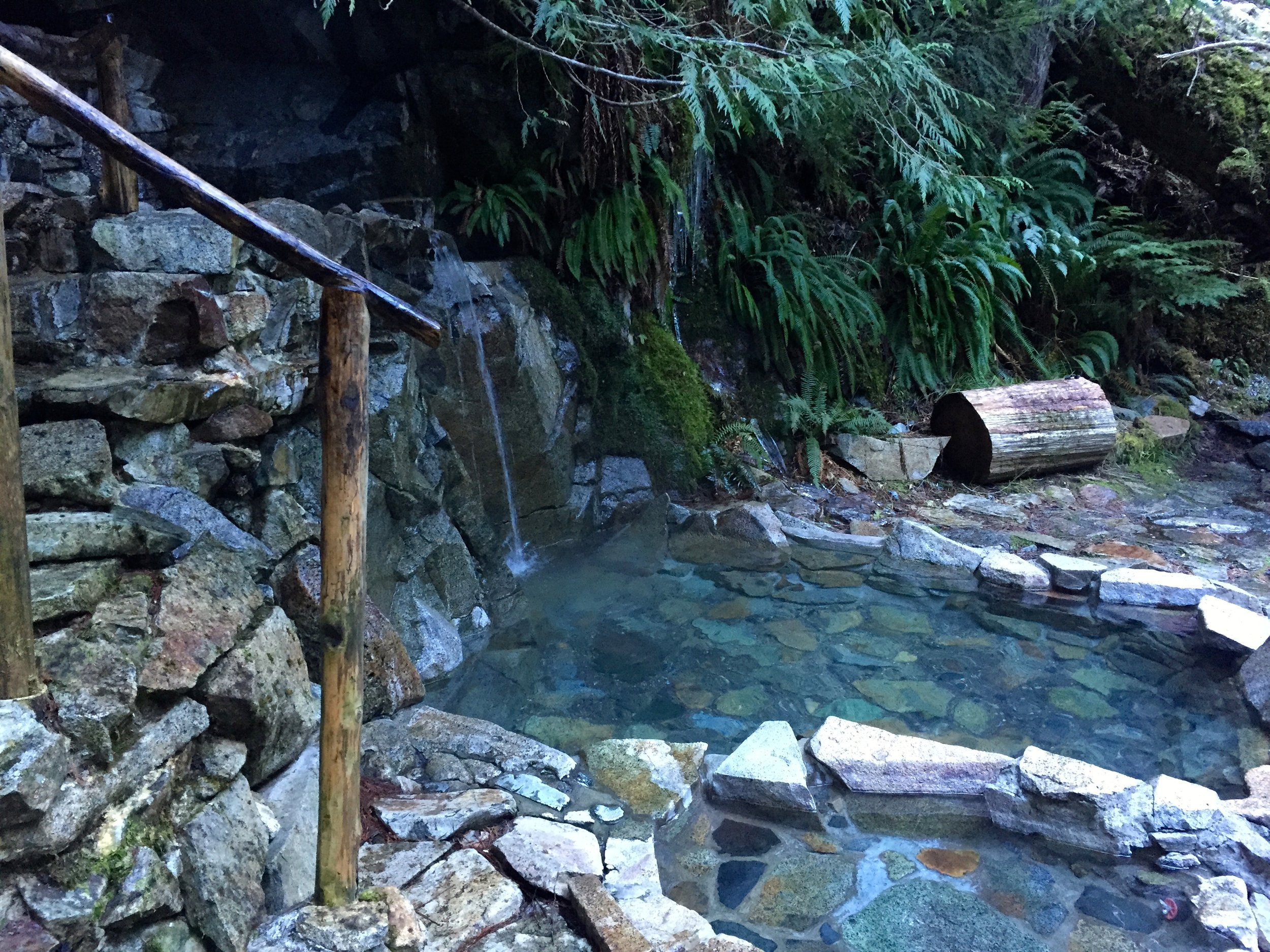 Pool at Goldmeyer Hot Springs, lower Cascade foothills, WA