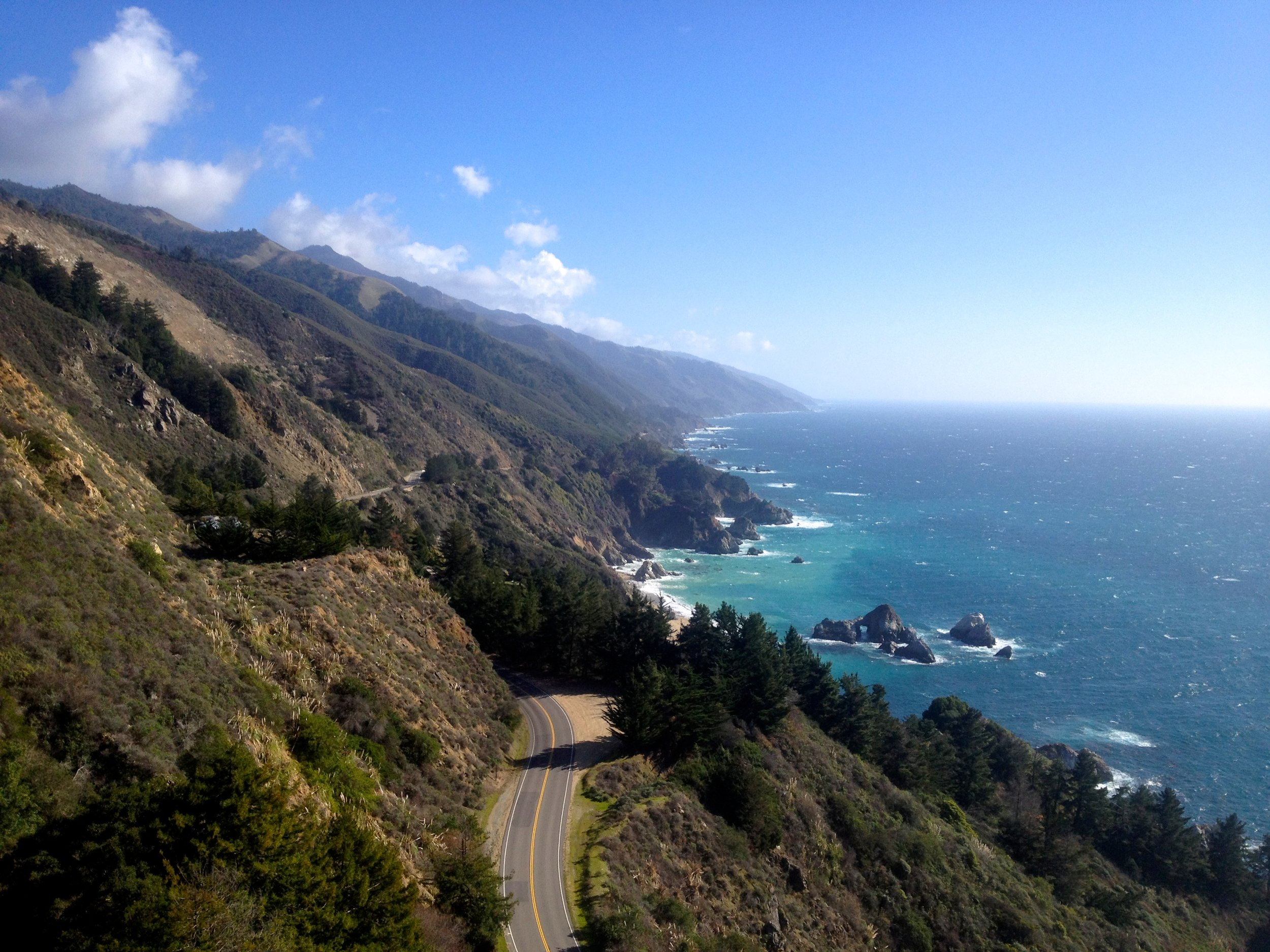 Ariel View of Big Sur, CA, Highway 101
