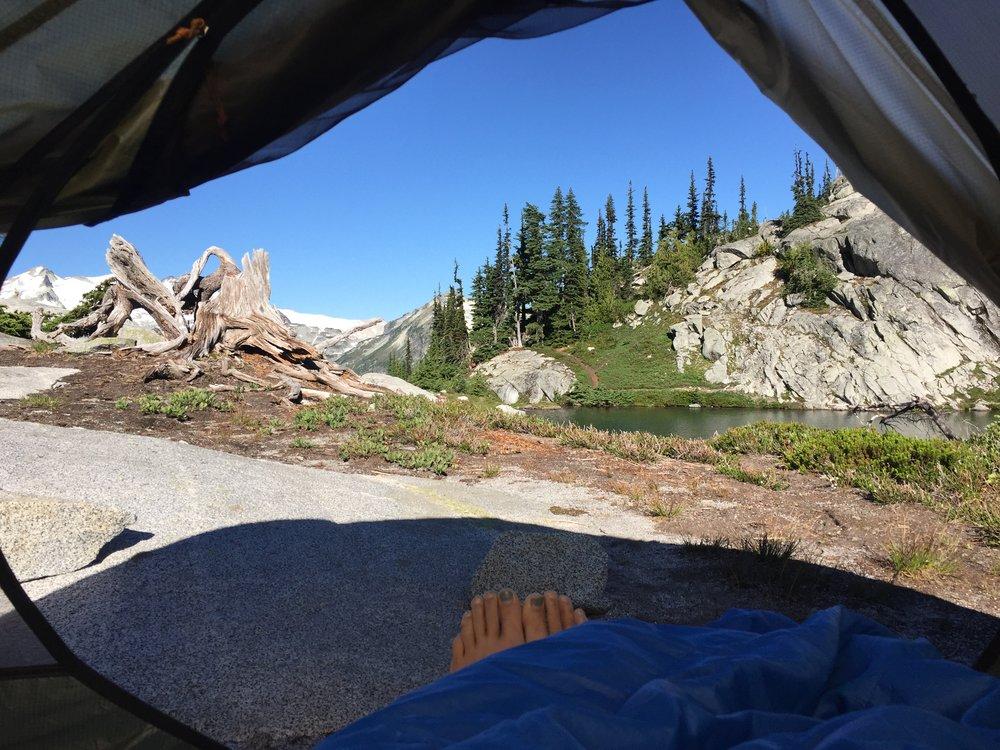Waking up at Robin Lake, WA