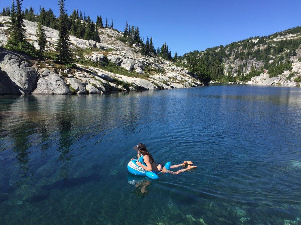 Cooling off in Robin Lake, WA