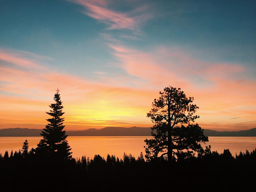 Sunrise from Rubicon Bay, Lake Tahoe CA