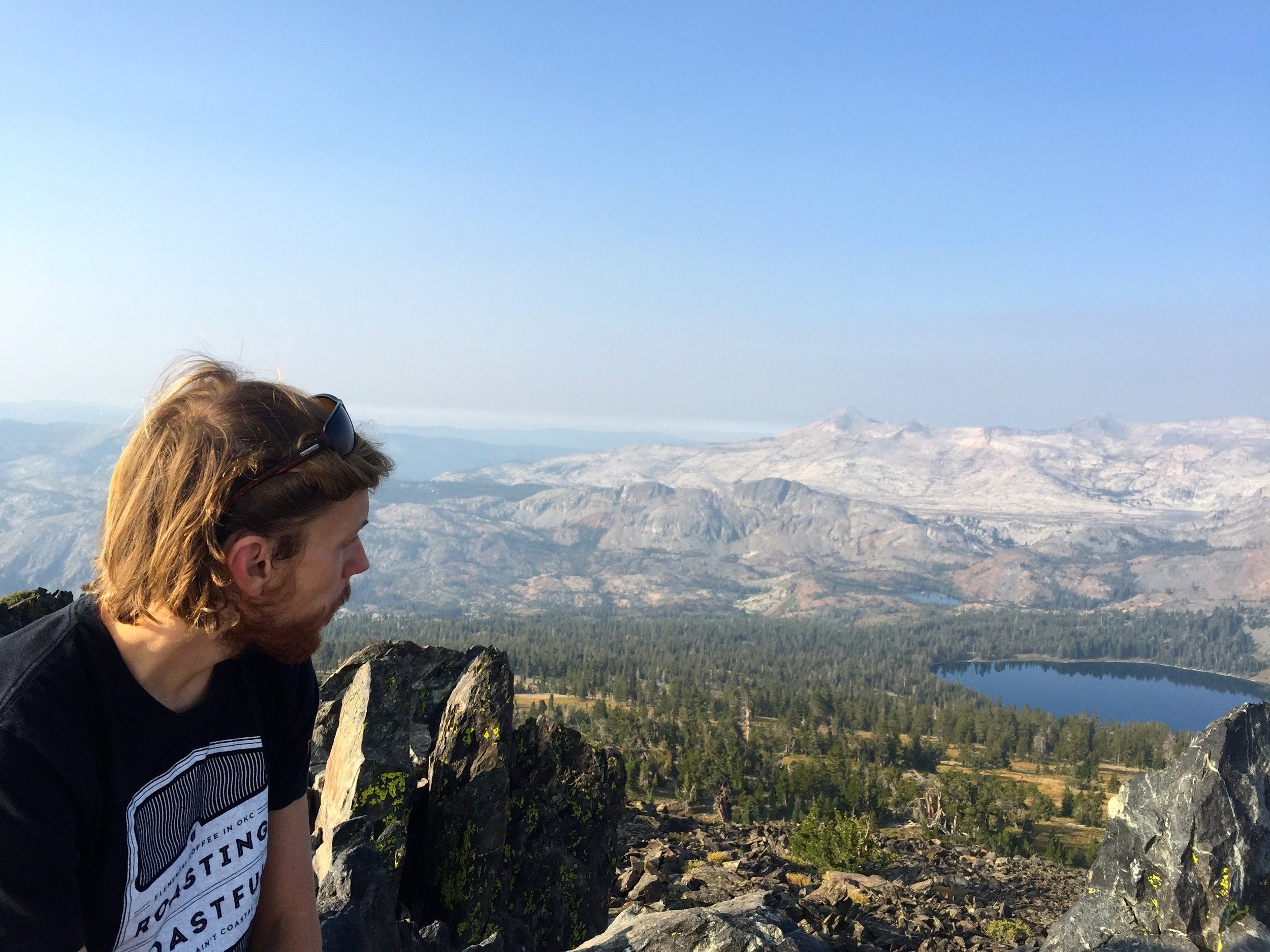 The summit of Mt. Tallac, Lake Tahoe CA