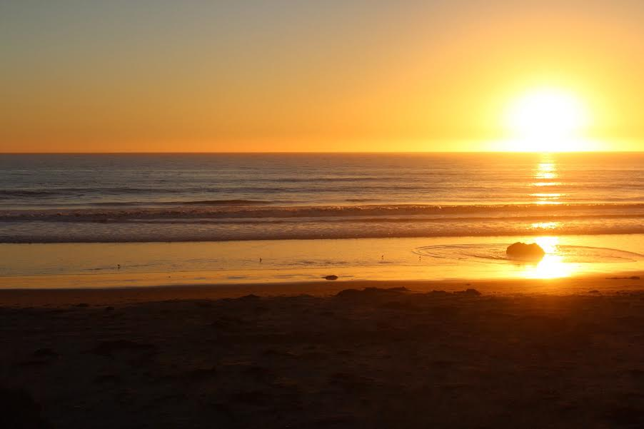 Sunset at Cayucos Beach, Central Coast California