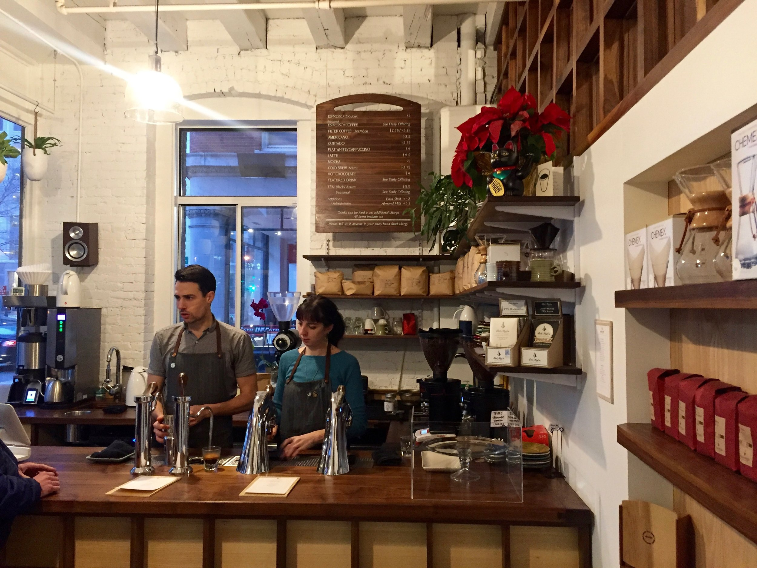 First Stop of the Boston Trip was to Gracenote Coffee in the Leather District. - Boston, MA